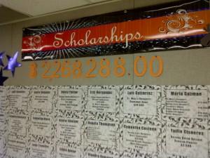 scholarship wall